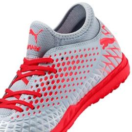 Buty piłkarskie Puma Future 4.4 Tt M 105690-01 czerwony, szary/srebrny szare 2