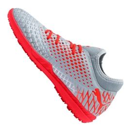 Buty piłkarskie Puma Future 4.4 Tt M 105690-01 czerwony, szary/srebrny szare 5