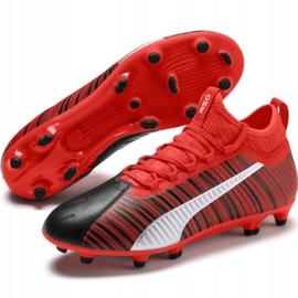 Buty piłkarskie Puma One 5.3 Fg Ag M 105604 01 czerwone wielokolorowe 3
