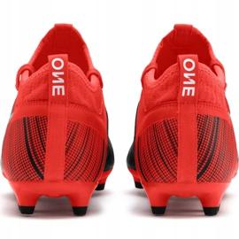 Buty piłkarskie Puma One 5.3 Fg Ag M 105604 01 czerwone wielokolorowe 4