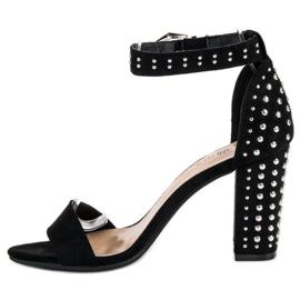 Marquiz Czarne Sandały Damskie 4