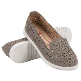 Top Shoes Lordsy Z Kryształkami szare 2