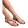 Super Mode różowe Casualowe Sandały Z Cyrkoniami zdjęcie 1
