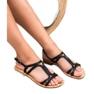 SHELOVET Sandały Na Obcasie czarne 1