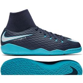 Buty halowe Nike HypervenomX Phelon Iii Df Ic Jr 917774-414 niebieskie wielokolorowe 2