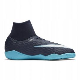 Buty halowe Nike HypervenomX Phelon Iii Df Ic Jr 917774-414 niebieskie wielokolorowe 3