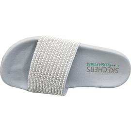 Klapki Skechers Pop Ups W 34210-GYSL szare 2