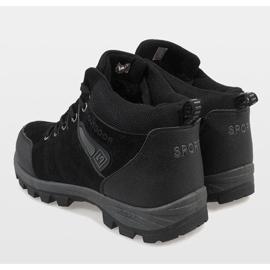 Czarne ocieplane śniegowce KFT001 5
