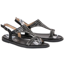 Super Mode Stylowe Czarne Sandały 2
