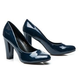 Sweet Shoes Lakierowane Czółenka Na Słupku niebieskie 5