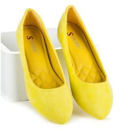 Seastar Zamszowe Baleriny W Szpic żółte 4
