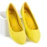 Seastar żółte Zamszowe Baleriny W Szpic zdjęcie 4
