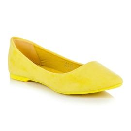 Seastar Zamszowe Baleriny W Szpic żółte 1