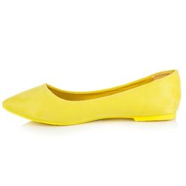 Seastar Zamszowe Baleriny W Szpic żółte 2