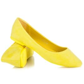 Seastar Zamszowe Baleriny W Szpic żółte 3