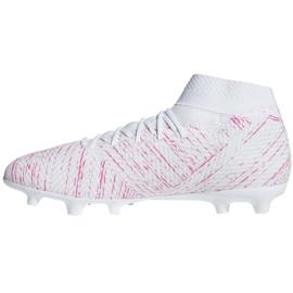 Buty piłkarskie adidas Nemeziz 18.3 Fg M BB9436 białe białe 2
