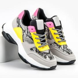 SHELOVET Kolorowe Sneakersy Snake Print wielokolorowe 5