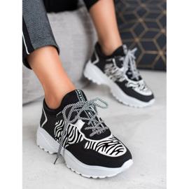 SHELOVET Modne Sneakersy Zebra Print 5