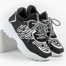SHELOVET Modne Sneakersy Zebra Print 4