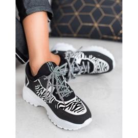 SHELOVET Modne Sneakersy Zebra Print 1