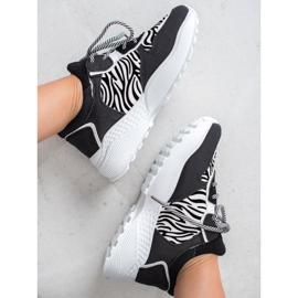 SHELOVET Modne Sneakersy Zebra Print 2