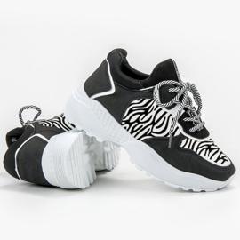 SHELOVET Modne Sneakersy Zebra Print 3