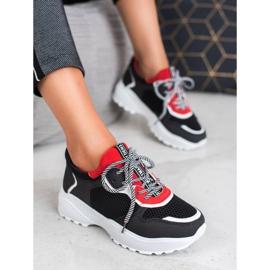 SHELOVET Modne Czarne Sneakersy 2