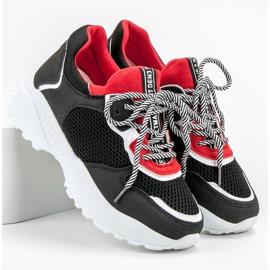 SHELOVET Modne Czarne Sneakersy 4