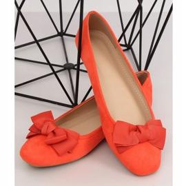 Baleriny damskie pomarańczowe 3173 Orange 2
