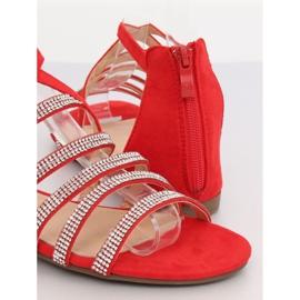Sandałki damskie czerwone LL6339 Red 4