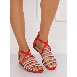Sandałki damskie czerwone LL6339 Red 2