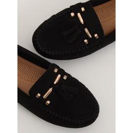 Mokasyny damskie czarne L7183 Black 5