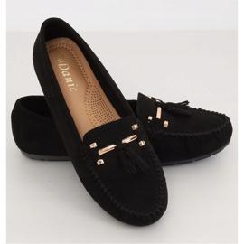 Mokasyny damskie czarne L7183 Black 1