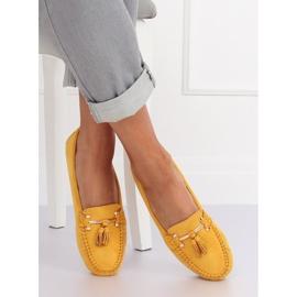 Mokasyny damskie żółte L7183 Yellow 3