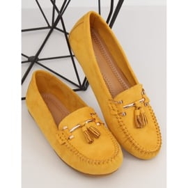 Mokasyny damskie żółte L7183 Yellow 2