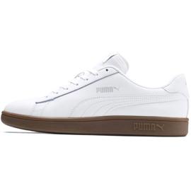 Buty Puma Smash v2 L M 365215 13 białe 1