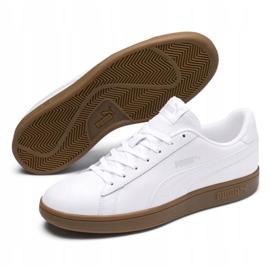 Buty Puma Smash v2 L M 365215 13 białe 2