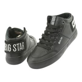 Wysokie Trampki czarne Big Star 274351 4