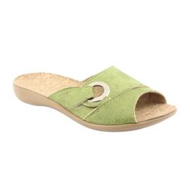 Befado obuwie damskie pu 265D008 zielone 1