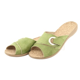 Befado obuwie damskie pu 265D008 zielone 3