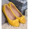 GUAPISSIMA żółte Baleriny Z Brokatem zdjęcie 2
