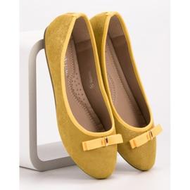 GUAPISSIMA Baleriny Z Brokatem żółte 1