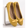 GUAPISSIMA żółte Baleriny Z Brokatem zdjęcie 1