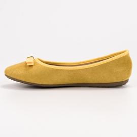 GUAPISSIMA Baleriny Z Brokatem żółte 5