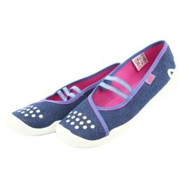 Befado obuwie dziecięce 116Y253 granatowe niebieskie 4