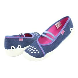 Befado obuwie dziecięce 116Y253 granatowe niebieskie 5