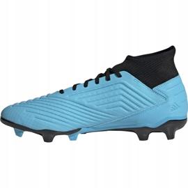 Buty piłkarskie adidas Predator 19.3 Fg M F35593 niebieskie 1