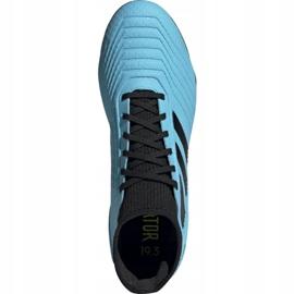 Buty piłkarskie adidas Predator 19.3 Fg M F35593 niebieskie 2