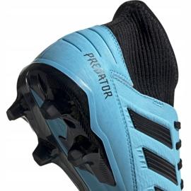 Buty piłkarskie adidas Predator 19.3 Fg M F35593 niebieskie 4