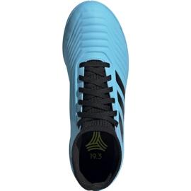 Buty piłkarskie adidas Predator 19.3 In Jr G25807 niebieskie 2